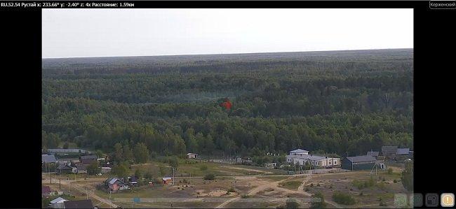 Камера в Керженском заповеднике засекла пожар в 70 км от поселка Рустай - фото 2