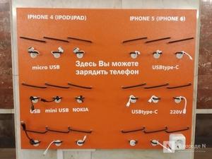 Зарядки для телефонов появились на двух станциях нижегородского метро