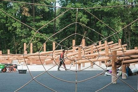 Детский парк в нижегородской «Швейцарии» готов на 90%