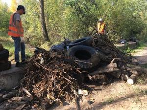 Три «Камаза» мусора вывезли за четыре дня с Мещерского озера