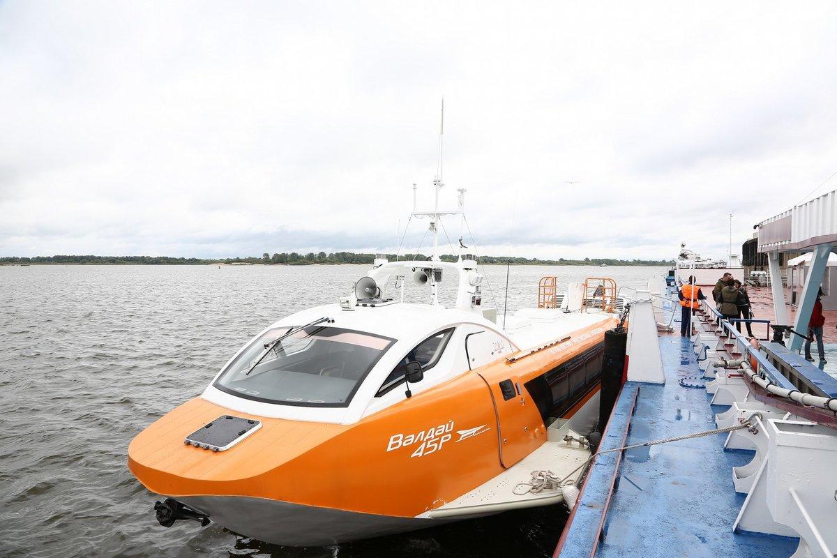 Судно на подводных крыльях «Валдай 45Р» совершило первую поездку из Нижнего Новгорода в Городец - фото 2