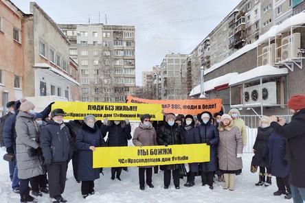 Жители разрушенного дома на улице Краснодонцев в Нижнем Новгороде обратились за помощью к Мишустину