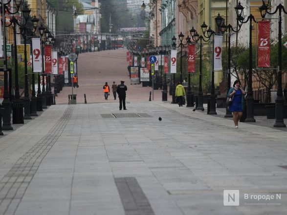Пустые улицы и «Бессмертный полк» на балконах - фото 10