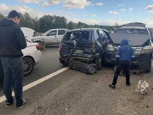Массовое ДТП с пятью автомобилями случилось в Автозаводском районе