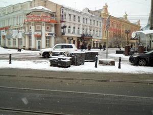 Гранитную плитку на Большой Покровской заменили на асфальт (ФОТО)