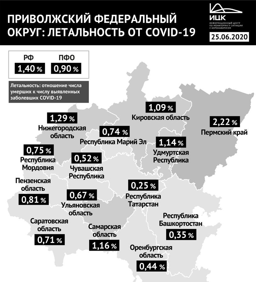 До 1,29% увеличилась летальность от коронавируса в Нижегородской области - фото 2