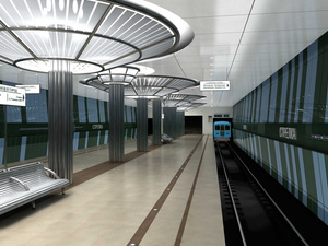 Строительство станции метро «Стрелка» идет с отставанием от графика