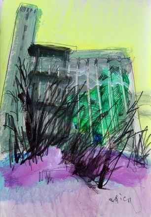 Элеватор на Черниговской появился на картинах дзержинского художника - фото 4