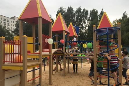 Елизавета Солонченко торжественно открыла детский городок «Солнечная поляна»